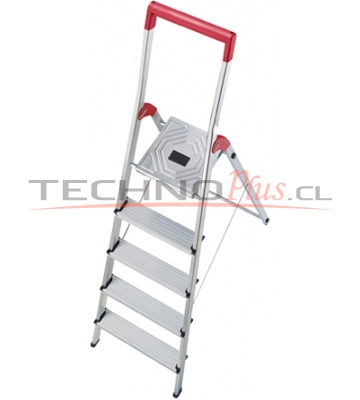 Escalera tijera aluminio plataforma 5 pelda os technoplus for Escalera aluminio 5 peldanos