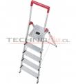 Escalera Tijera Aluminio Plataforma 5 Pelda�os