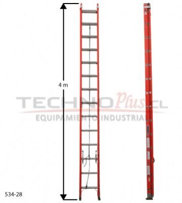 Escalera fibra de vidrio telescopica m technoplus - Escaleras telescopicas precios ...