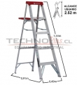 Escalera Tijera de Aluminio 1.52M / 5P