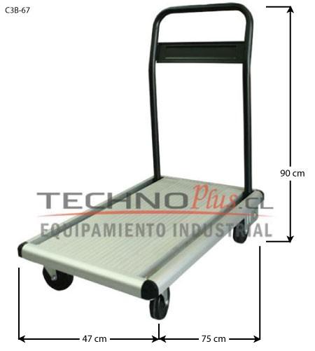 Carro plataforma aluminio plegable 100 kg technoplus - Carro plegable aluminio ...