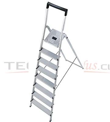 Escalera tijera aluminio plataforma 8 pelda os hailo for Escaleras 8 peldanos