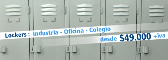LOCKERS METALICOS DE 1 A 20 CASILLEROS