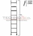 Escalera de Aluminio Recta 2.44 M / 8 P