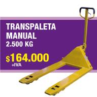 TRANSPALETA MANUAL 2500KG