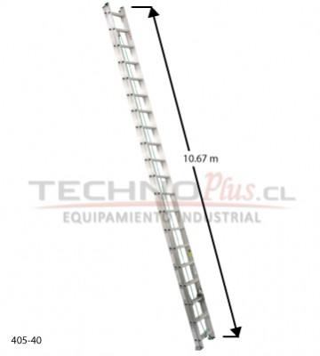 Escalera de aluminio telescopica m 40p technoplus for Precio escalera aluminio
