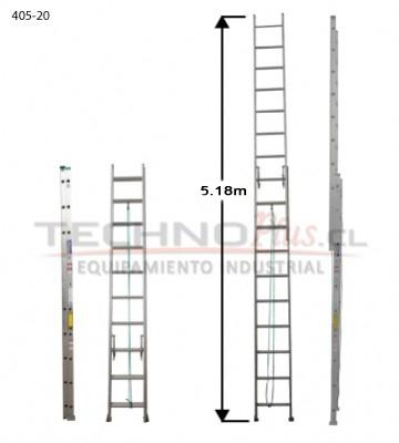 ESCALERA DE ALUMINIO TELESCOPICA 5.19 m./ 20P