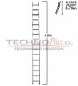 Escalera de Aluminio Recta 4.80M / 16 P.