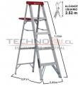 Escalera Tijera de Aluminio 1.53M / 5P
