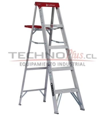 Escalera tijera de aluminio 5p technoplus for Precios de escaleras de tijera de aluminio