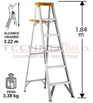 ESCALERA TIJERA ALUMINIO 1.84M / 6P