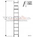 Escalera de Aluminio Recta 3 M / 10 P.