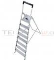Escalera Tijera Aluminio Plataforma 8 Peldaños.