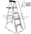Escalera Tijera Aluminio 5 Peldaños