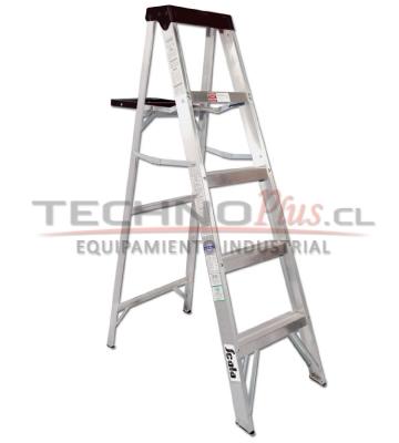 Escalera tijera aluminio 5 pelda os technoplus for Escalera aluminio 5 peldanos