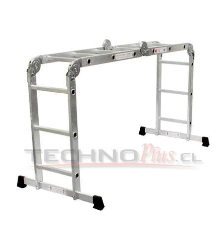 Escalera de aluminio multiproposito multiuso technoplus for Precios de escaleras de tijera de aluminio