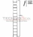Escalera de Aluminio Recta 3.60 M /12 P
