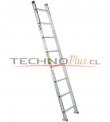 Escalera de Aluminio Recta 2.50 M / 8 P