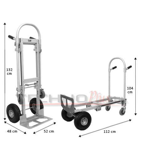 Carro Aluminio Dual Corto 250 kg.