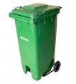 Basurero Plastico con Ruedas Tapa y pedal 120 Litros