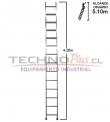 Escalera de Aluminio Recta 4,20 M / 14 P