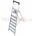 Escalera Tijera Aluminio Plataforma 6 Peldaños