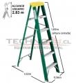 Escalera Tijera Fibra de Vidrio SERIE 792