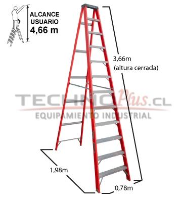 Escalera tijera fibra de vidrio m technoplus for Escaleras fibra