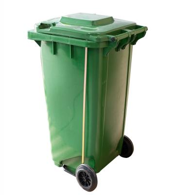 Basurero Plastico con Ruedas, Tapa y Pedal 240 Litros.