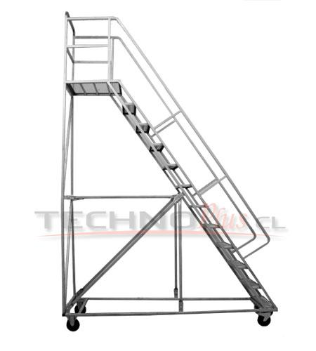 Escalera tipo avion acero 3 0 m technoplus for Apliques para subida de escalera