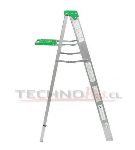 Escalera de aluminio tijera m technoplus for Escaleras tijera