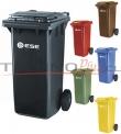 contenedor plastico con tapa y ruedas 120 litros