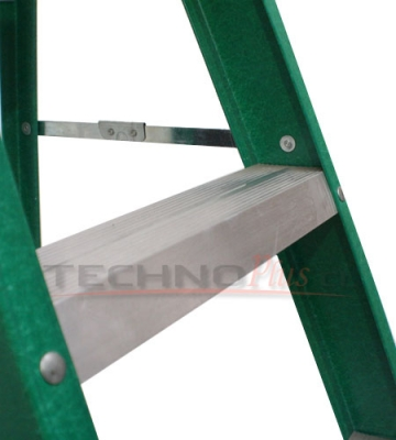 Escalera tijera fibra de vidrio metros technoplus for Escaleras 5 metros