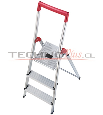 Escalera tijera aluminio plataforma 3 pelda os technoplus for Escalera aluminio 2 peldanos