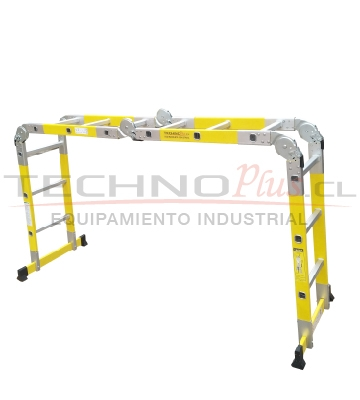 Escalera multiproposito multiuso fibra de vidrio for Escalera plegable homecenter