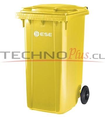 contenedor plastico con tapa y ruedas 240 litros