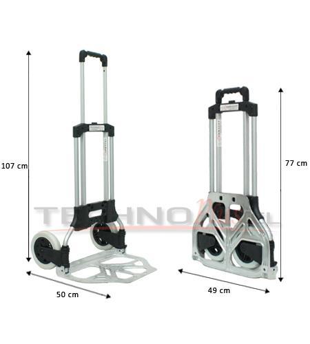 Carro plegable de aluminio tipo yegua 80 kilos technoplus - Carro plegable aluminio ...