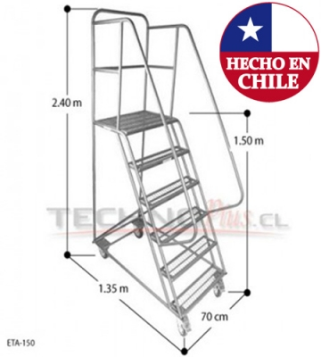 ESCALERA TIPO AVION ACERO 1,5 m.