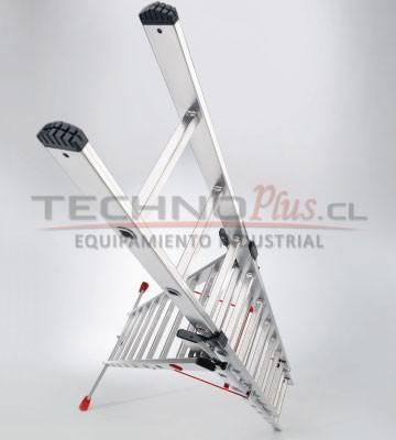 ESCALERA DE ALUMINIO TIJERA CON EXTENSION 8.15 m